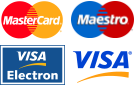 We accept Mastercard, Maestro, and Visa cards